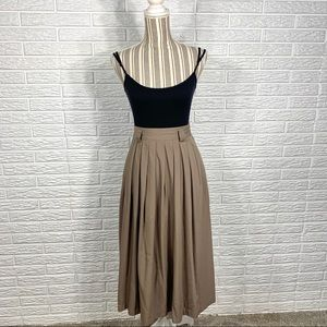 Vintage Briggs Brown High Waisted Maxi Skirt